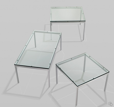 Knoll florence knoll low table products minima - Florence knoll rectangular coffee table ...