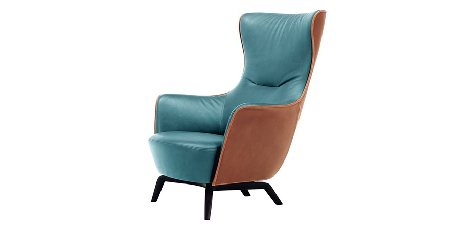 poltrona frau mamy blue armchair products minima