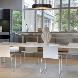 MDF Italia Tense Table, MDF Italia M1 Chairs