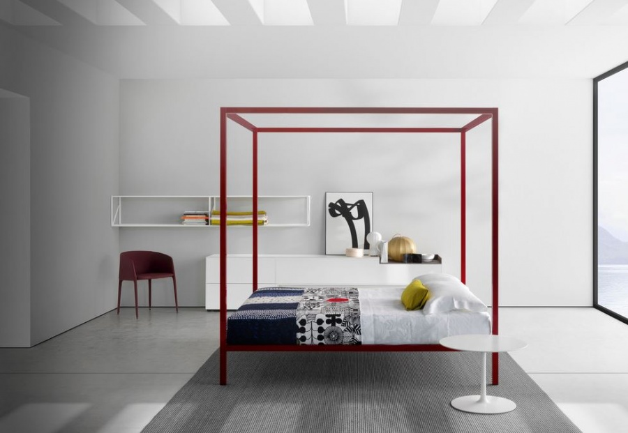 mdf italia aluminium bed products minima. Black Bedroom Furniture Sets. Home Design Ideas